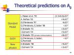 theoretical predictions on a g