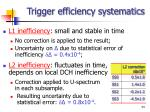 trigger efficiency systematics