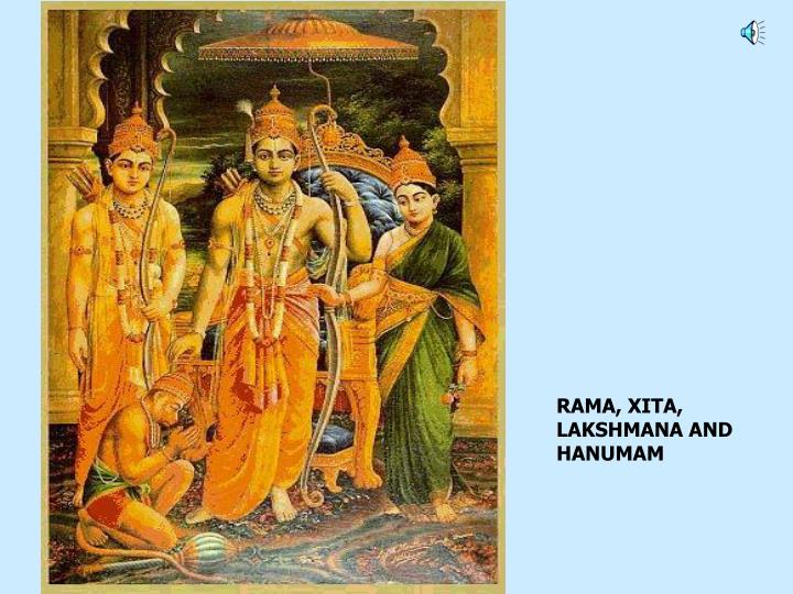 RAMA, XITA, LAKSHMANA AND HANUMAM