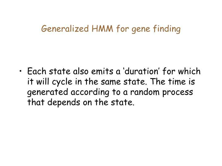 Generalized HMM for gene finding