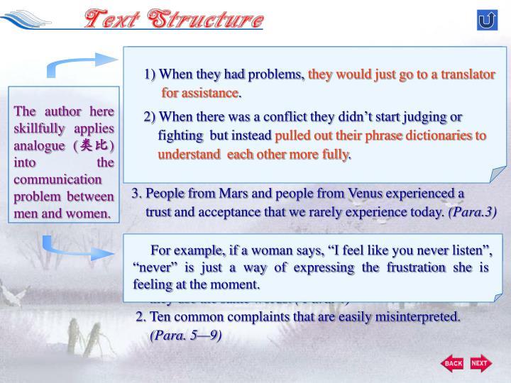 Communication Between Martians and Venusians