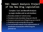 pad impact analysis project of the new drug legislation
