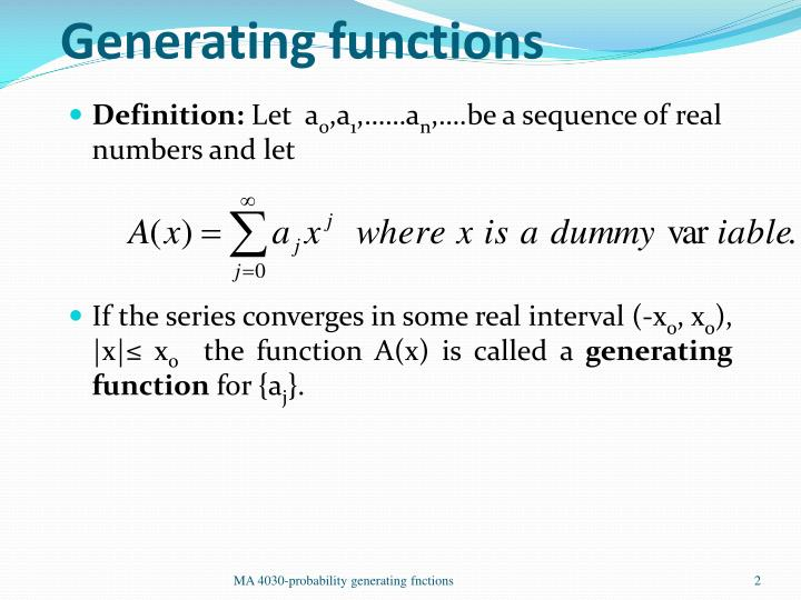 Generating functions1