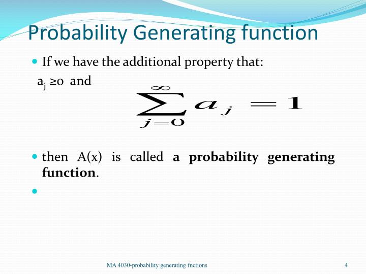 Probability Generating function