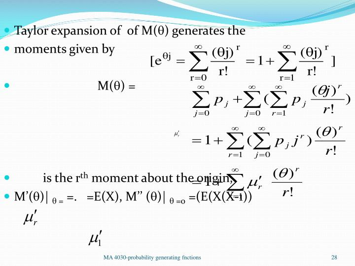 Taylor expansion of  of M(