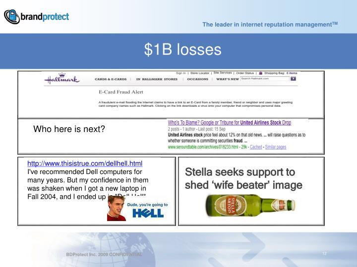 $1B losses