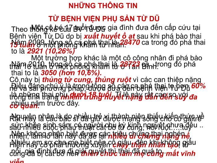 NHỮNG THÔNG TIN