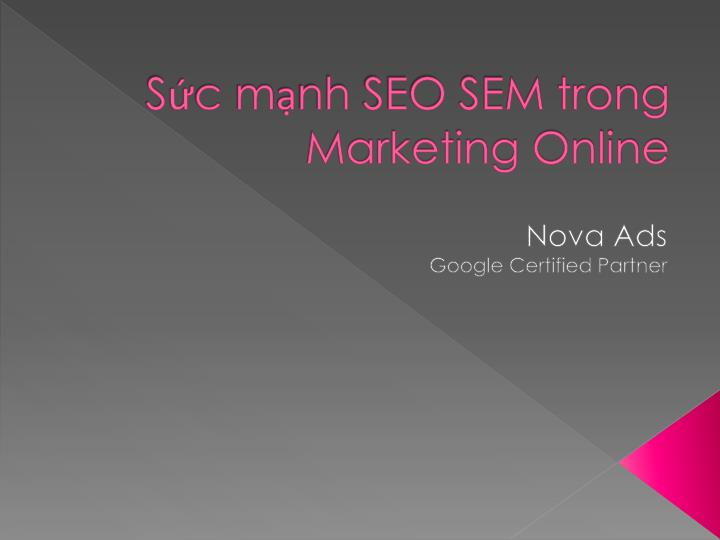 S c m nh seo sem trong marketing online