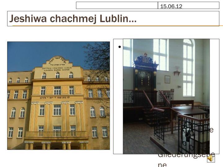 Jeshiwa chachmej Lublin…