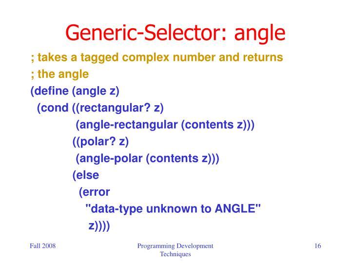 Generic-Selector: angle