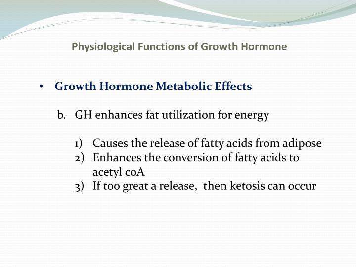 Physiological Functions of Growth Hormone