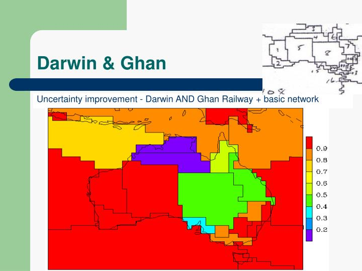 Uncertainty improvement - Darwin AND Ghan Railway + basic network