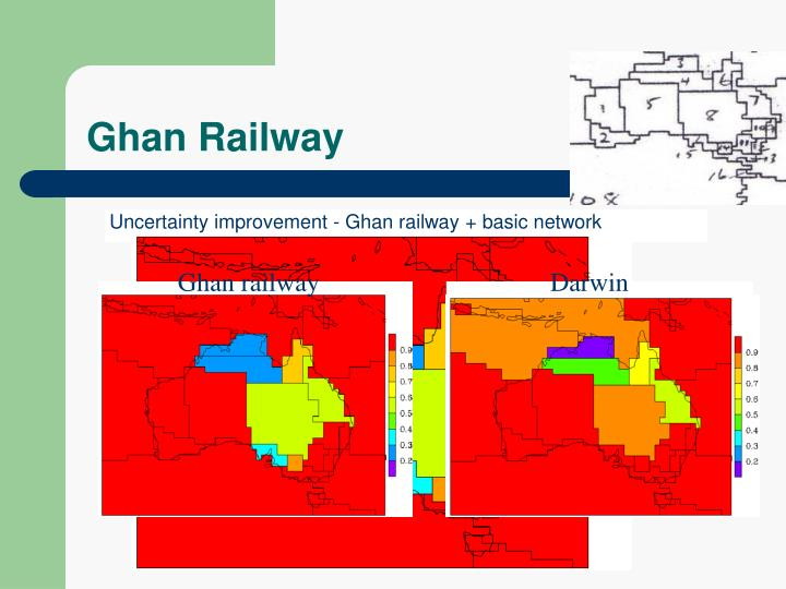 Uncertainty improvement - Ghan railway + basic network