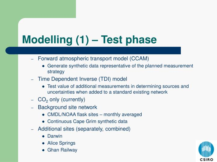 Forward atmospheric transport model (CCAM)