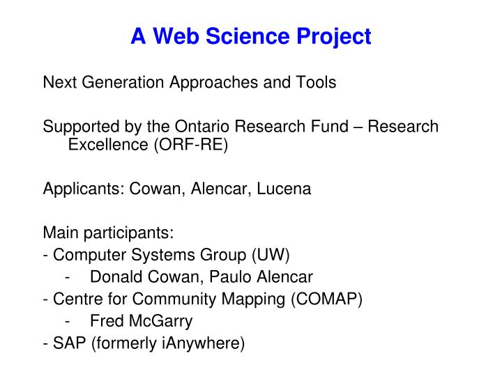 A Web Science Project