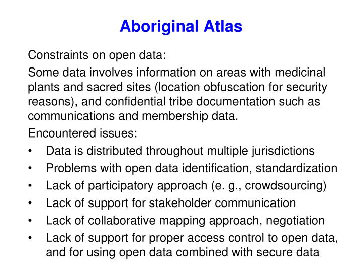 Aboriginal Atlas
