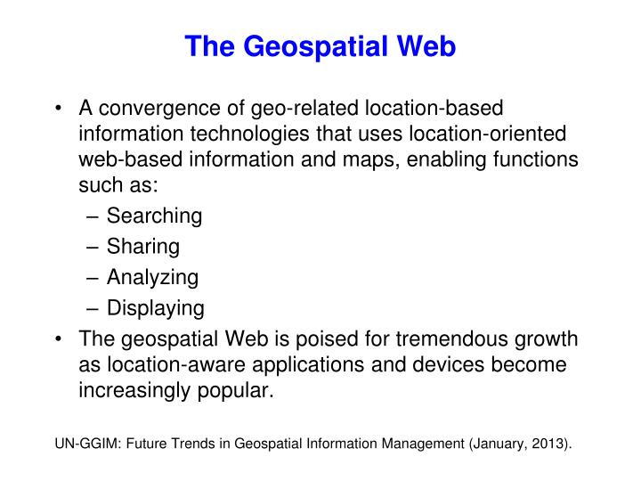 The Geospatial Web