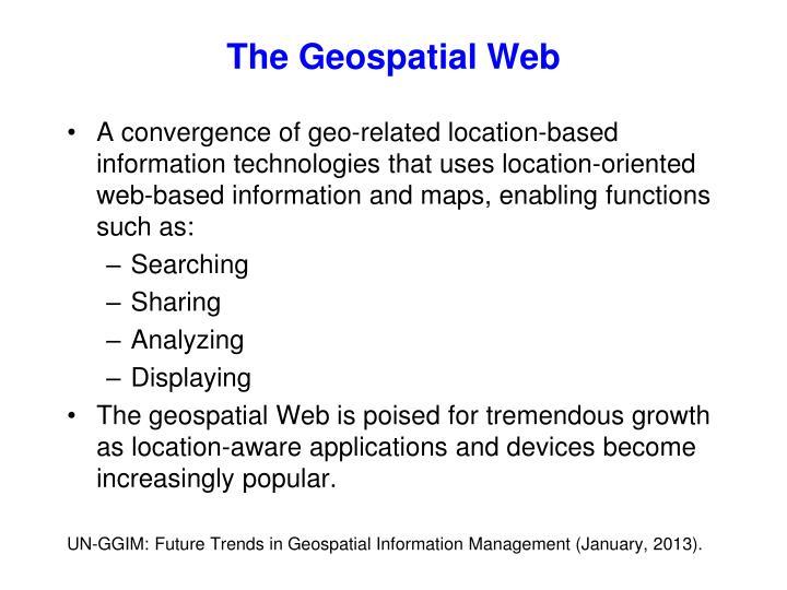 The Geospatial Web