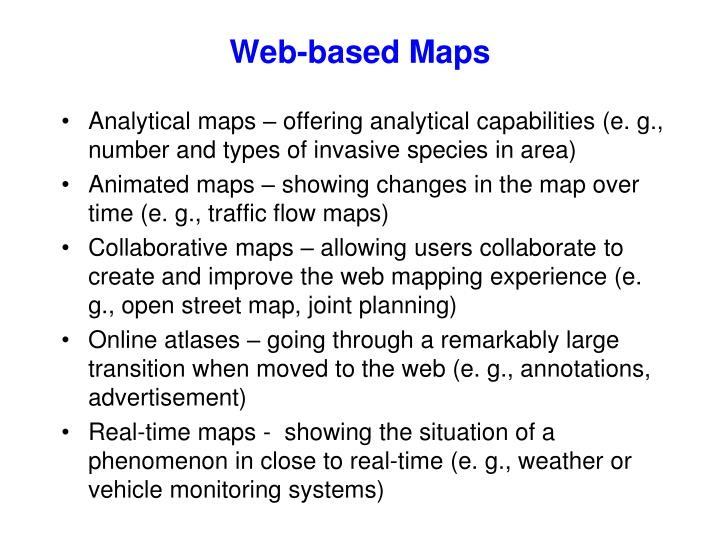 Web-based Maps