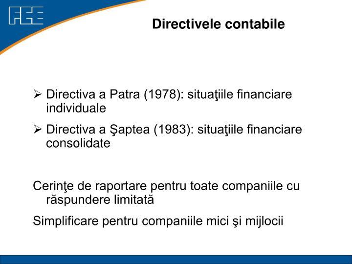 Directivele contabile