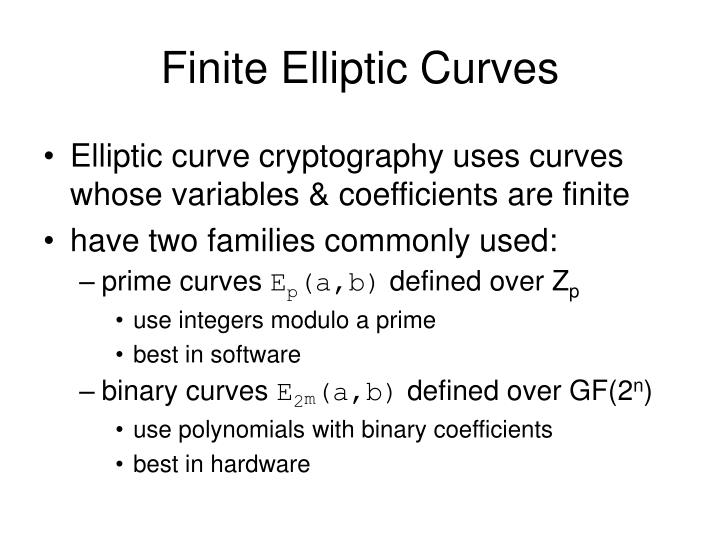 Finite Elliptic Curves