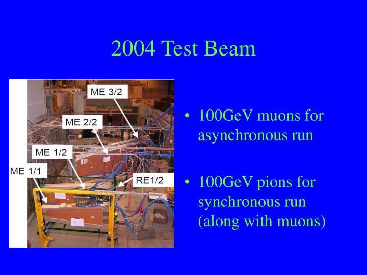 2004 Test Beam