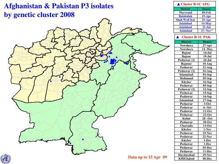 Afghanistan & Pakistan P3 isolates