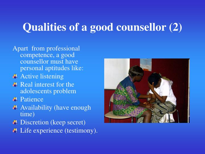 Qualities of a good counsellor (2)