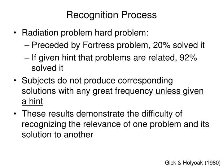 Recognition Process
