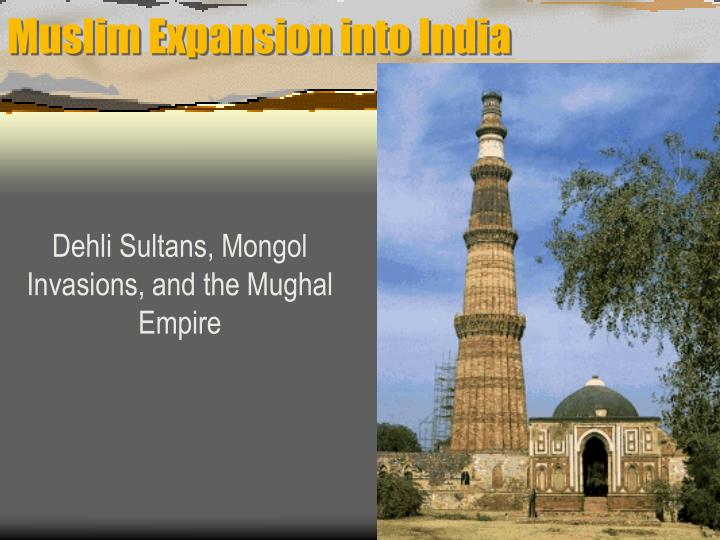 Muslim expansion into india