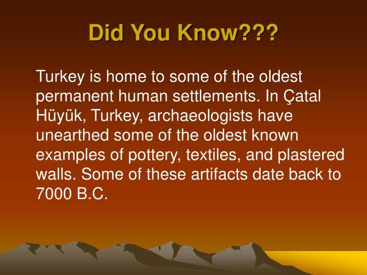 Did You Know???