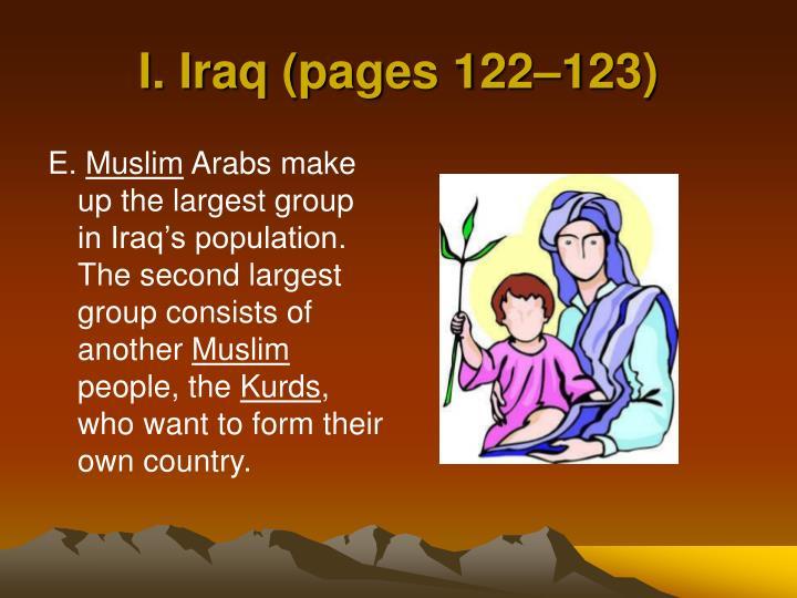 I. Iraq (pages 122–123)