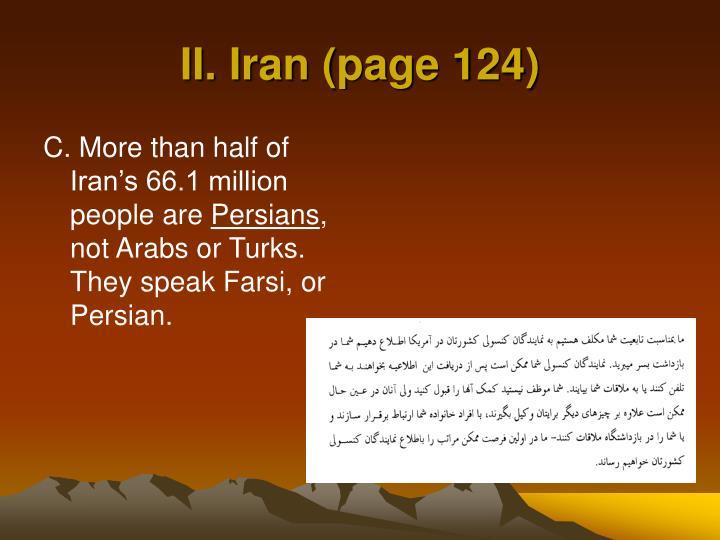 II. Iran (page 124)