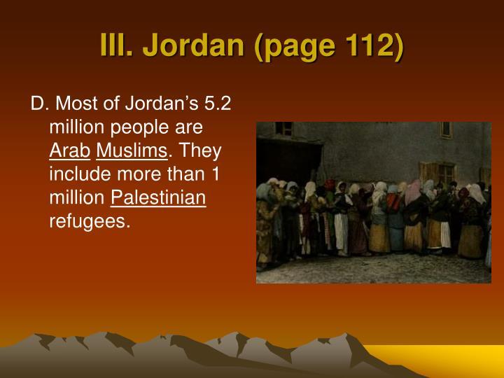 III. Jordan (page 112)