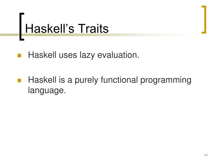 Haskell's Traits