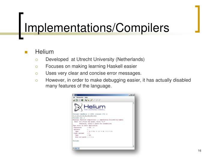 Implementations/Compilers