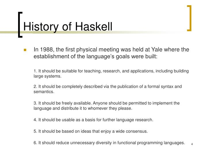 History of Haskell