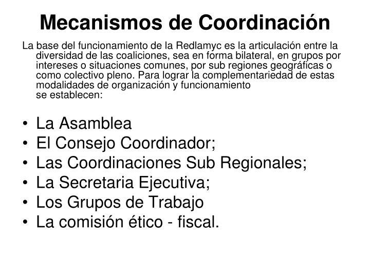 Mecanismos de Coordinación