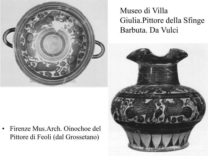 Museo di Villa Giulia.Pittore della Sfinge Barbuta. Da Vulci