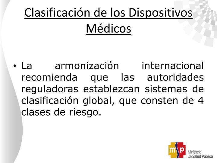 Clasificación de los Dispositivos Médicos