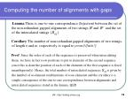 computing the number of alignments with gaps1