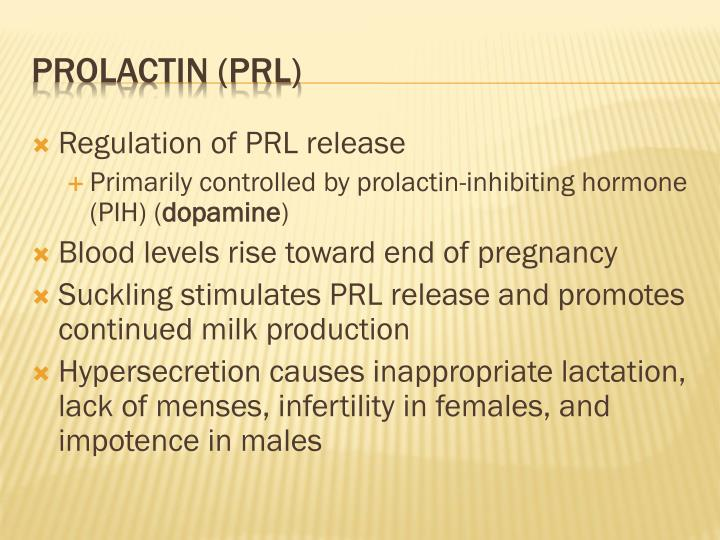 Regulation of PRL release