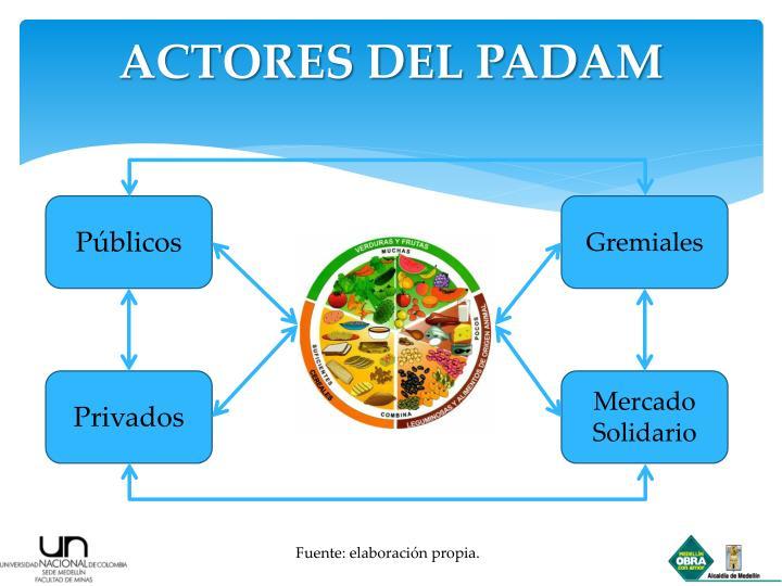 ACTORES DEL PADAM