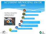 acuerdo municipal 038 de 2005