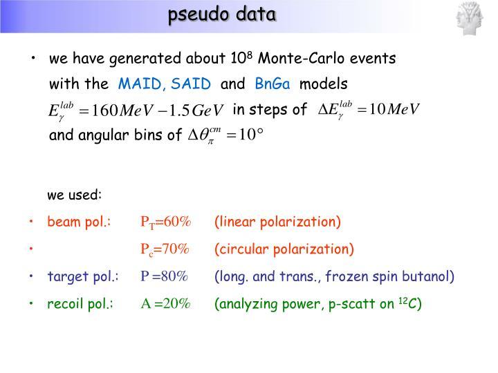pseudo data