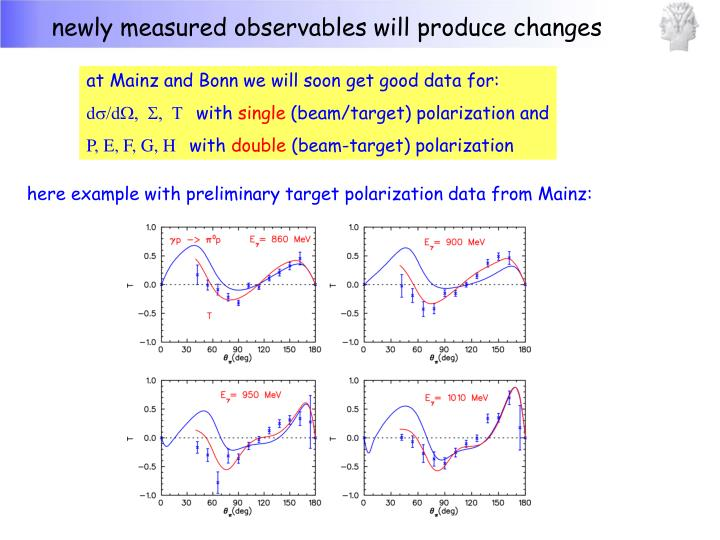 newly measured observables will produce changes