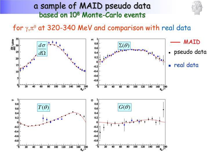 a sample of MAID pseudo data