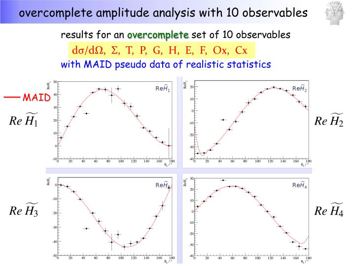 overcomplete amplitude analysis with 10 observables