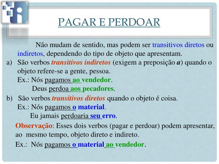 PAGAR E PERDOAR