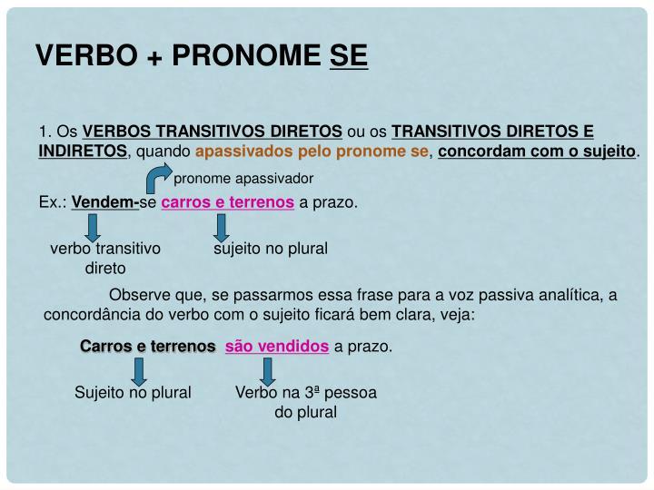 VERBO + PRONOME